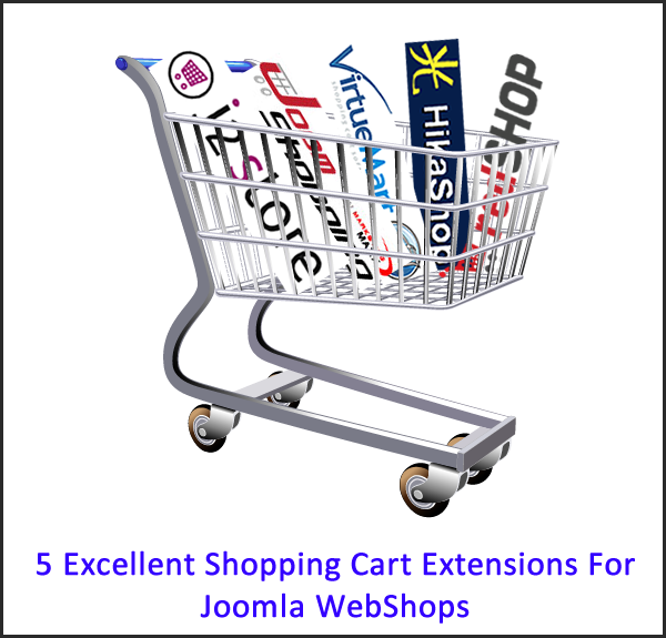 5 awesome free Joomla 2.5 shopping cart extensions - Pick one, sellers!