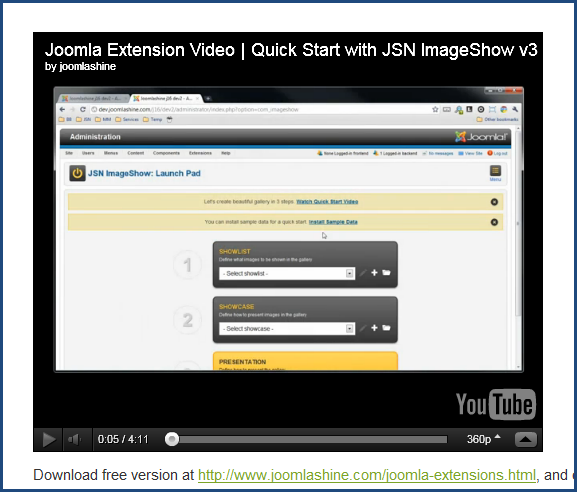 Joomla 2.5 video extensions - To transform  your site to a media library