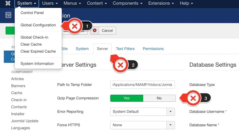 Enable GZip Compression in Joomla 3