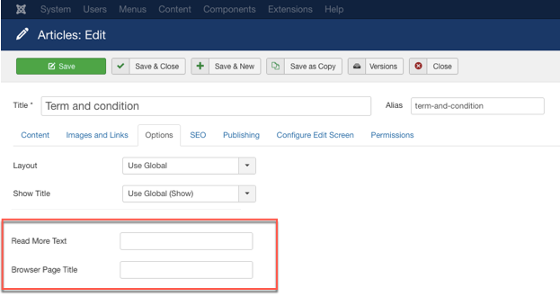 Change Page Title In Joomla Article