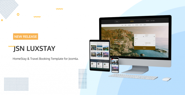 JSN LuxStay - Homestay & Travel Booking Template