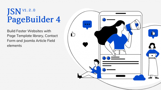 JSN PageBuilder 4 version 1.2.0 - Build Faster Websites with